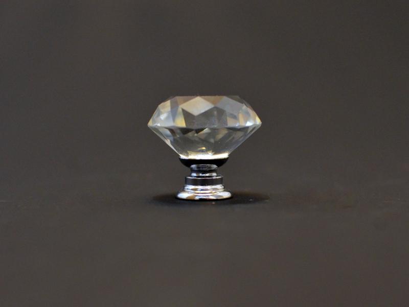 Мебельная ручка с кристаллом 30 мм