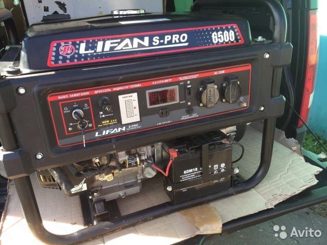 Электростанция-генератор lifan 6500 новы