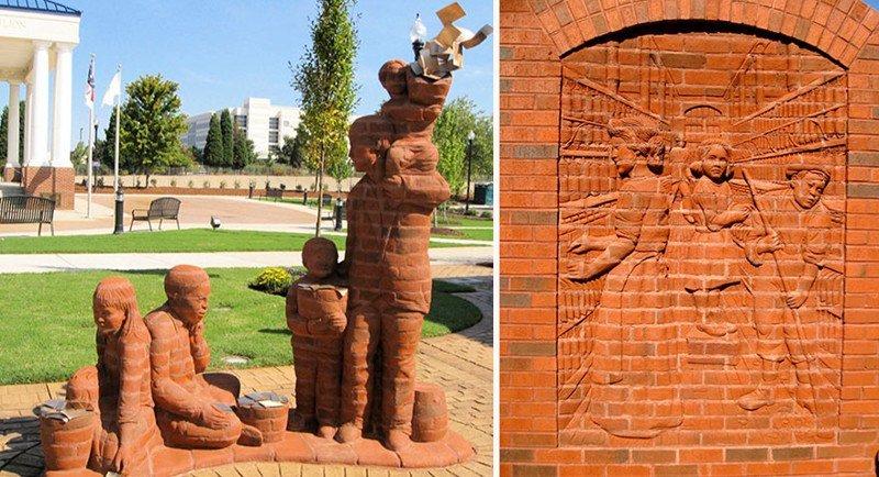 скульптуры и декоративные элементы