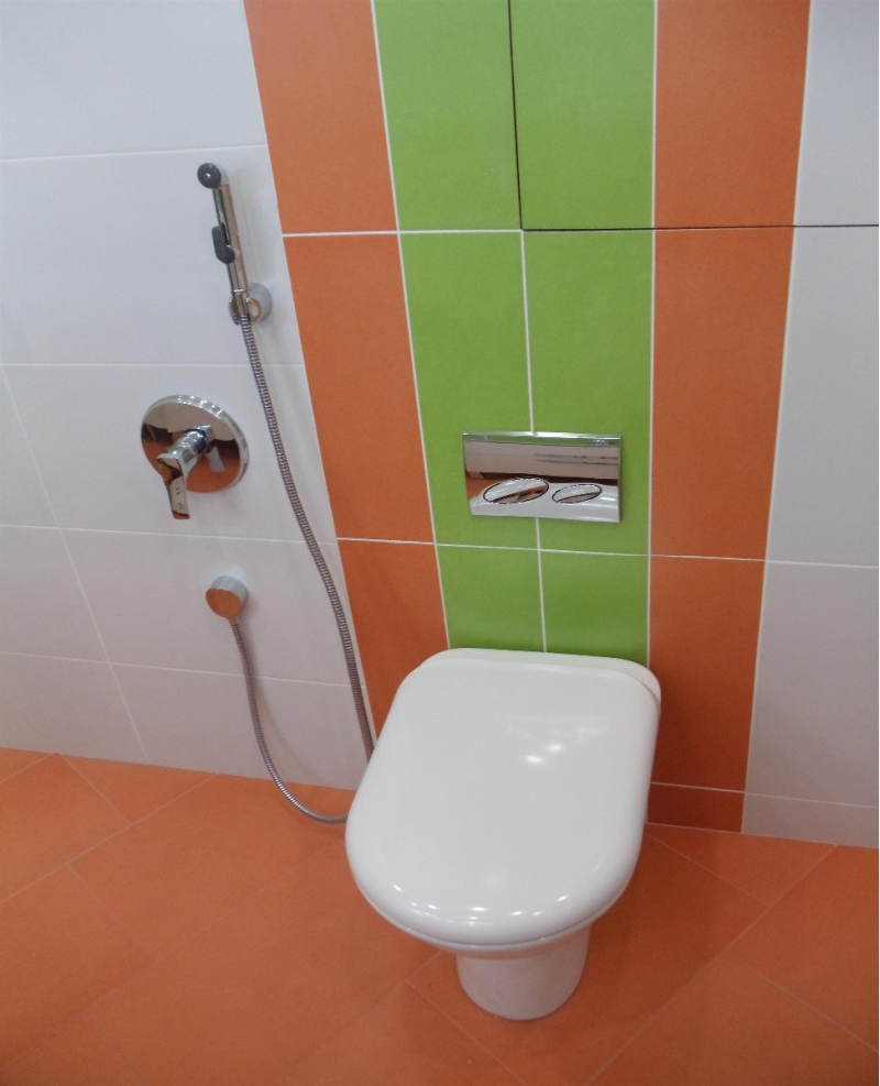 Как в туалете сделать душ фото