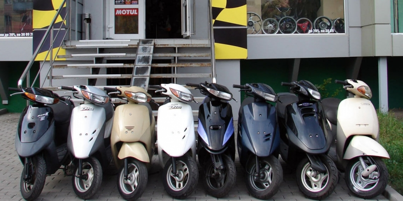 Разборка японских скутеров Honda Yanaha Suzuki