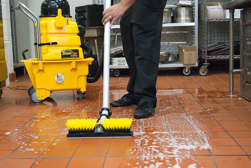 How to clean the grout in floor tiles