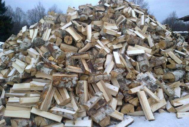 Сухие дрова берёза