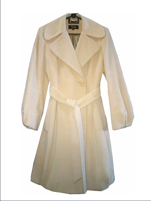 Весеннее пальто из шерсти и шелка