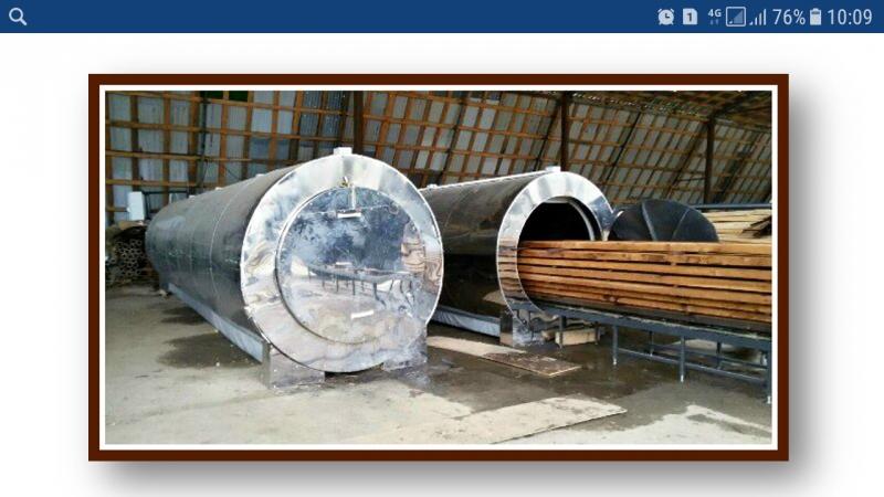 Установки для термообработки древесины