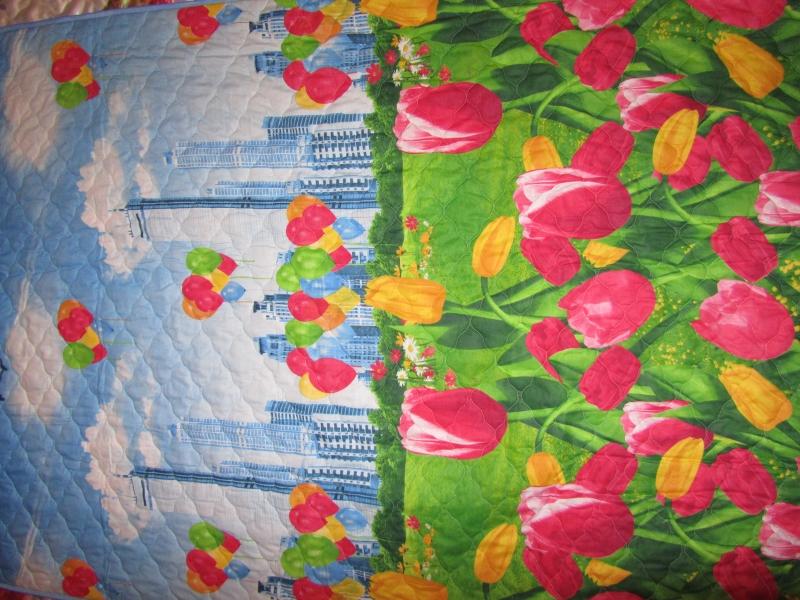 Одеяла, подушки, покрывала, стеганная ткань для матрасов