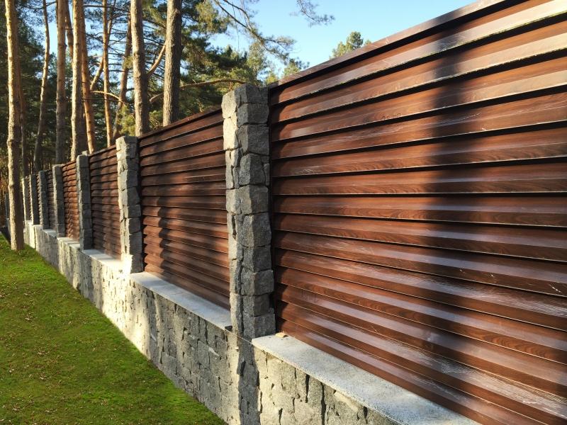 Забор-жалюзи металлический, эксклюзив, горизонт, премиум.