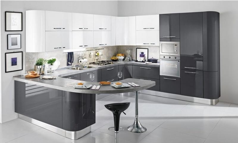 Кухня эмаль глянец на заказ по индивидуальным размерам