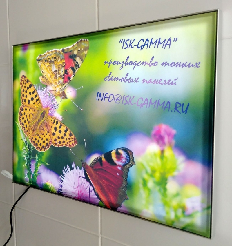 Тонкие световые панели Textile, Kristal, Clik, Magnetik. Интерьерная реклама