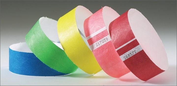 Бумажные браслеты на руку оптом