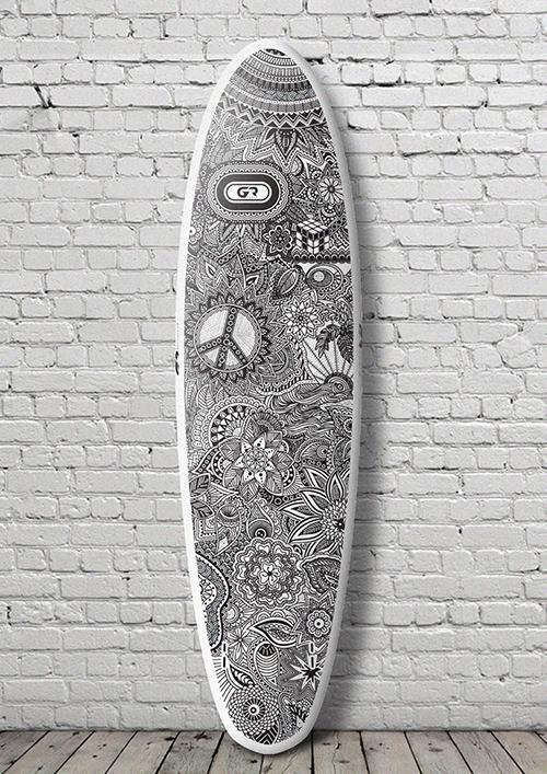 SUP - доска для серфинга с веслом (сап серфинг)