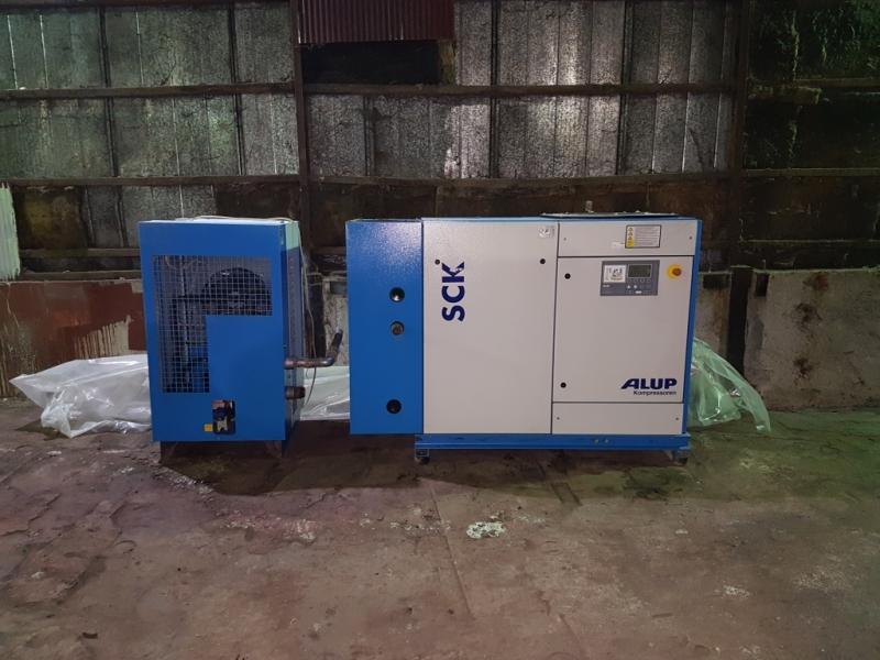 Винтовой компрессор б/у Alup SCK 61-10 + осушитель воздуха Alup ADQ-550
