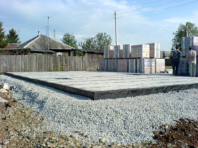 Фундамент, заливка бетона