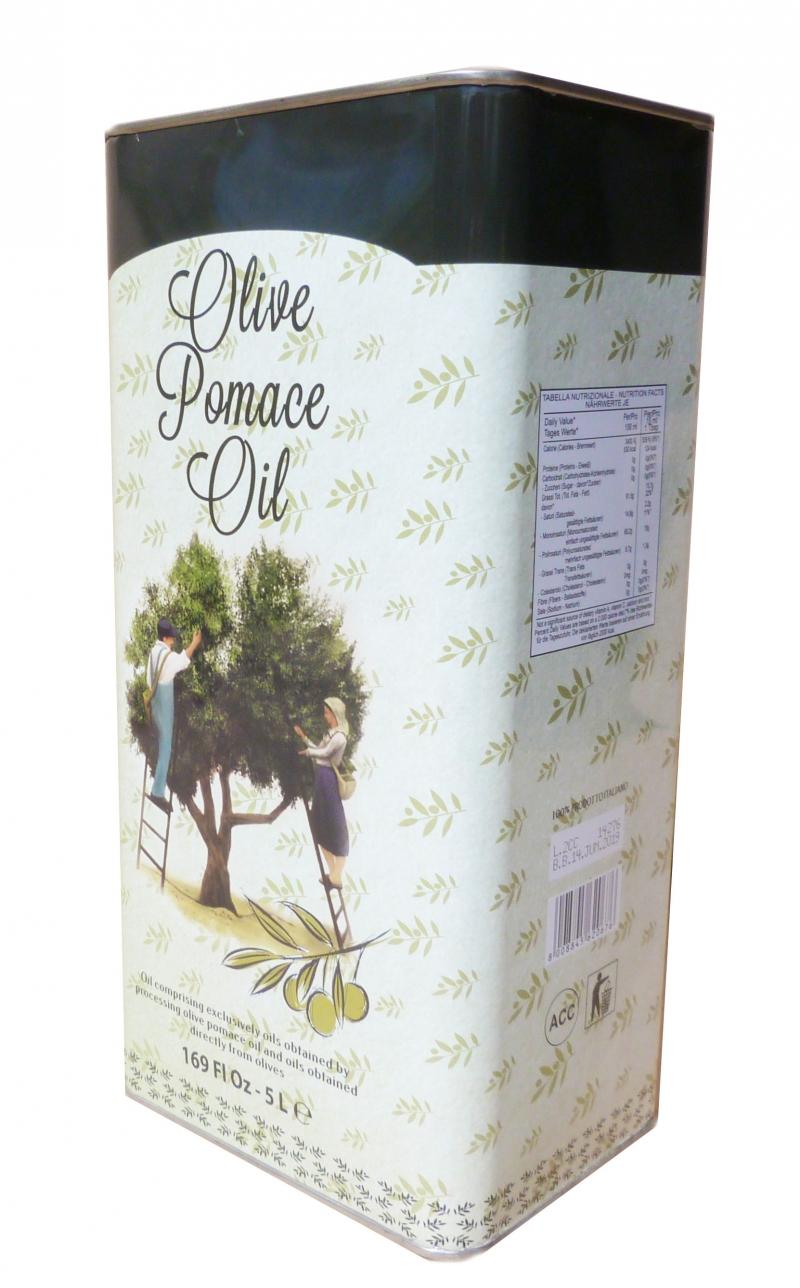 Оливковое масло 5 л. в ж.б. Италия pomace