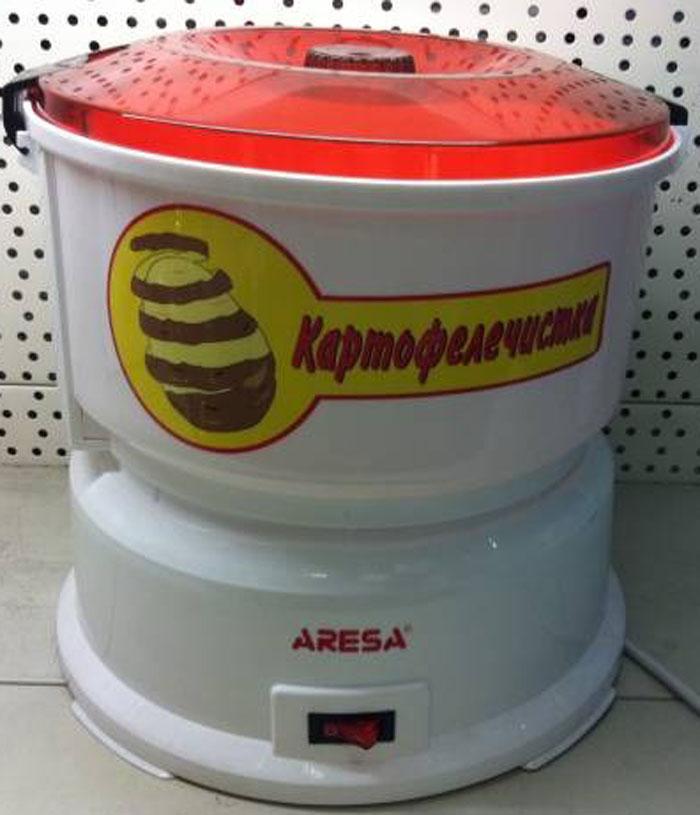 Картофелечистка овощечистка электрическая домашняя машинка Aresa P 01 для чистки