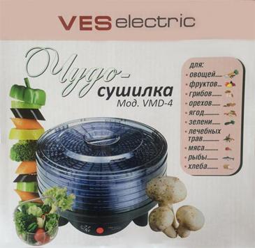 Дегидратор Ves Electric VMD-4 электрическая сушилка для сушки овощей и фруктов