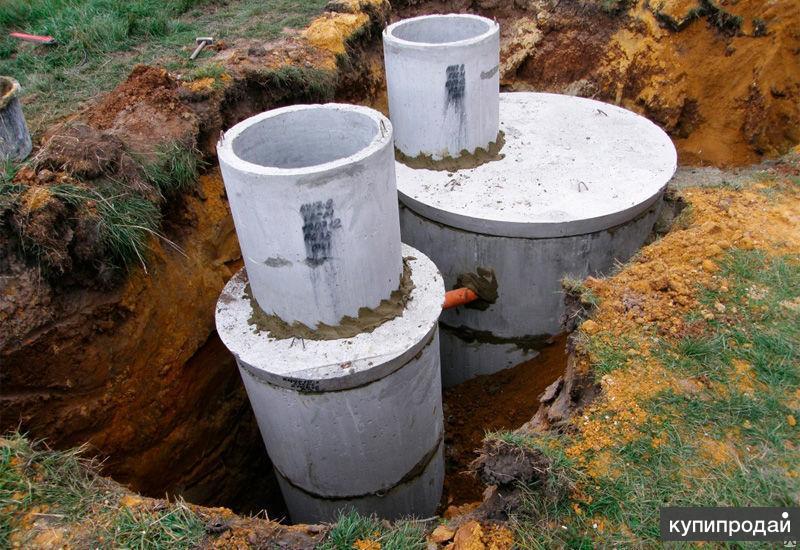 Выгребные ямы - Канализации из бетонных ЖБИ колец - под ключ