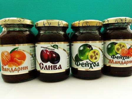 Джемы натуральные без гмо в ассортименте- фейхоа, мандарин, фейхоа+мандарин,слив