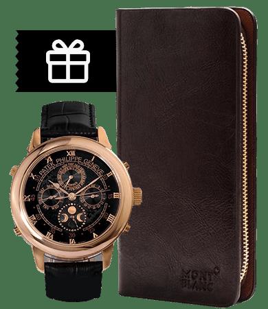 Комплект портмоне Montblanc + часы Patek Philippe