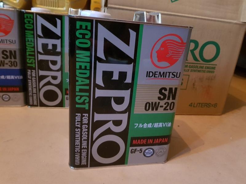 Масло моторное Idemitsu 0W-20 ZEPRO ECO MEDALIST 4л.