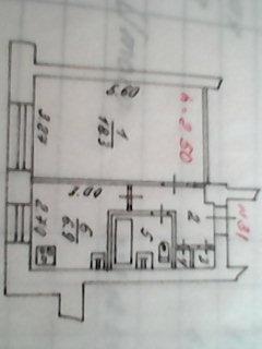 Продам однакомнатную квартиру новой планировки