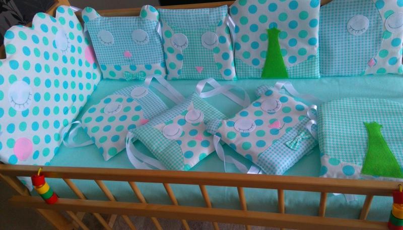 Бортики в детские кроватки,  детское постельное белье, конверты для прогулок