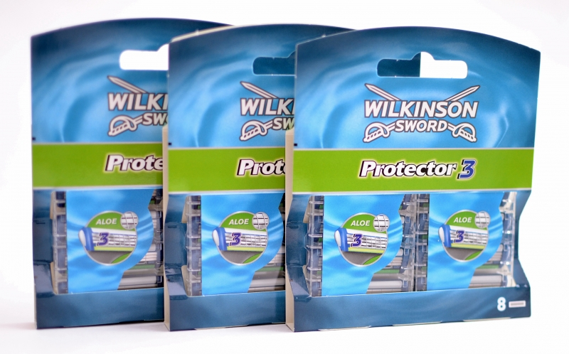 Schick/WILKINSON SWORD PROTECTOR3 СМЕННЫЕ ЛЕЗВИЯ (3/8 ШТ)