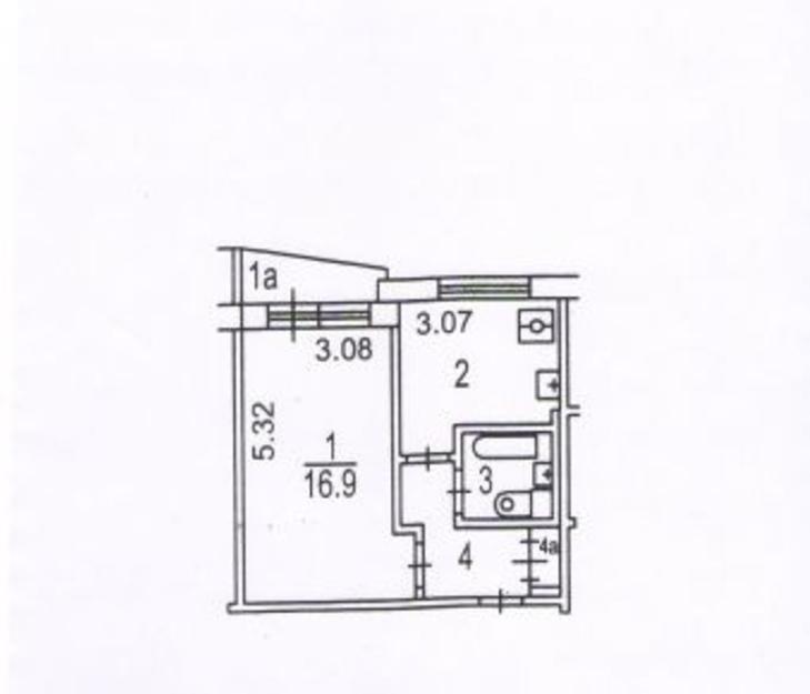 1-к квартира, 32 м2, свободна