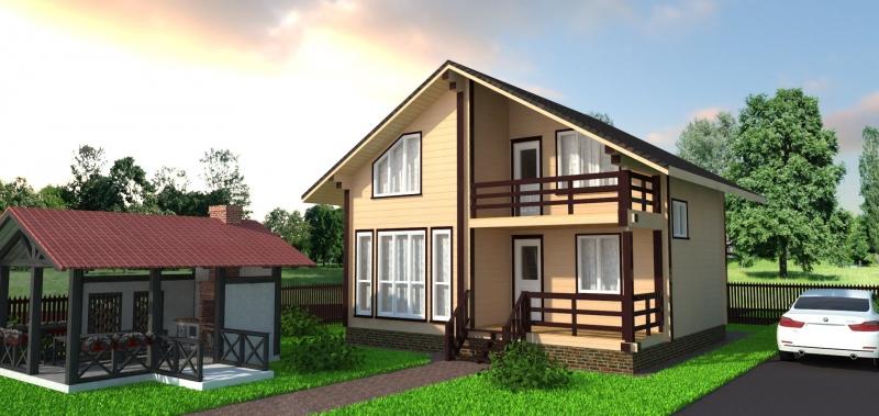 Лендинг строительство каркасных домов