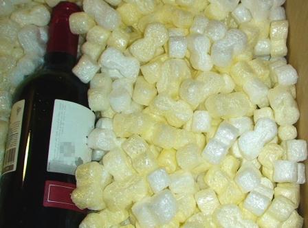 Упаковка  гранулированная из пенополистирола