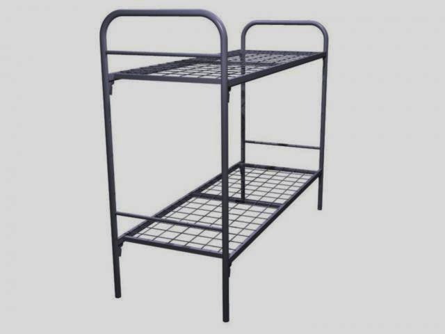Кровать двухъярусная металлическая для рабочих, хостелов, общежитий