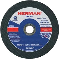 Абразивный отрезной круг HERMAN INOX