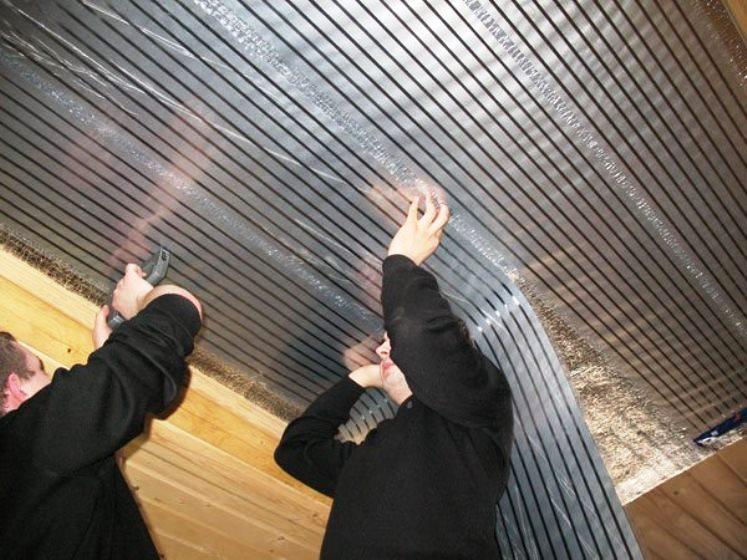 Греющий потолок (ПЛЭН) под