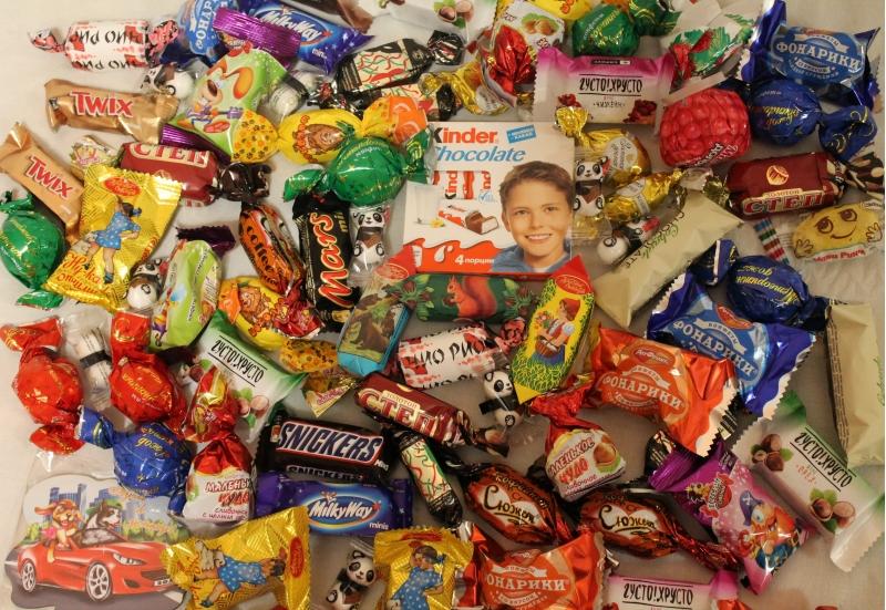 Сладкие подарки для детей на Новый год