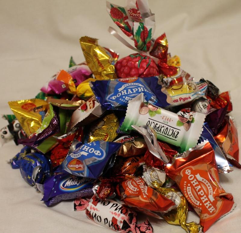 Состав детских Новогодних подарков СладКо конфеты 62