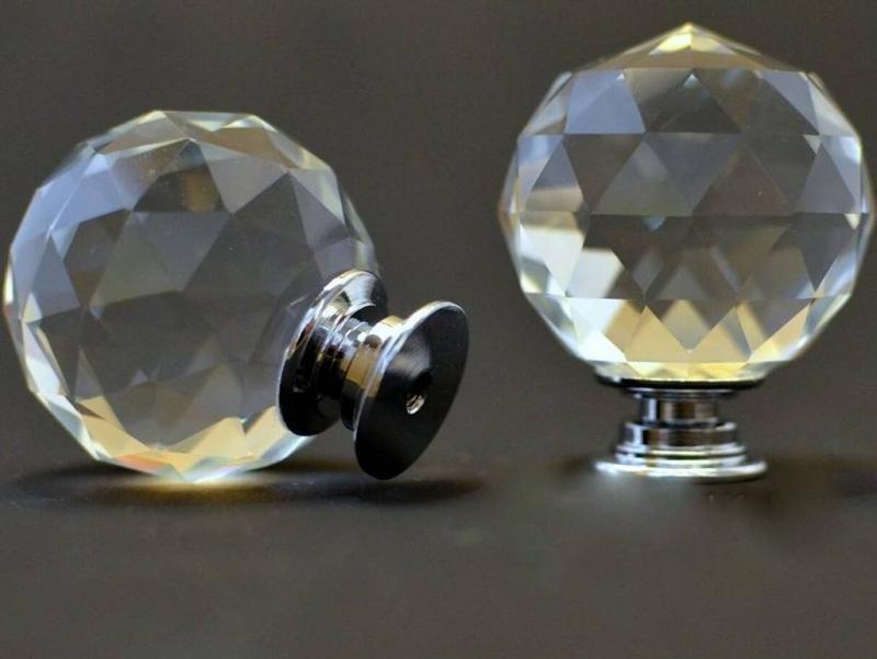 Ручка мебельная с кристаллом