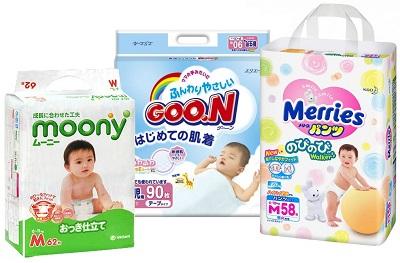 Подгузники ведущих японских брендов. Дешево