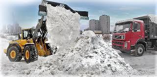 Вывоз снега самосвалами, услуги по утилизации снега