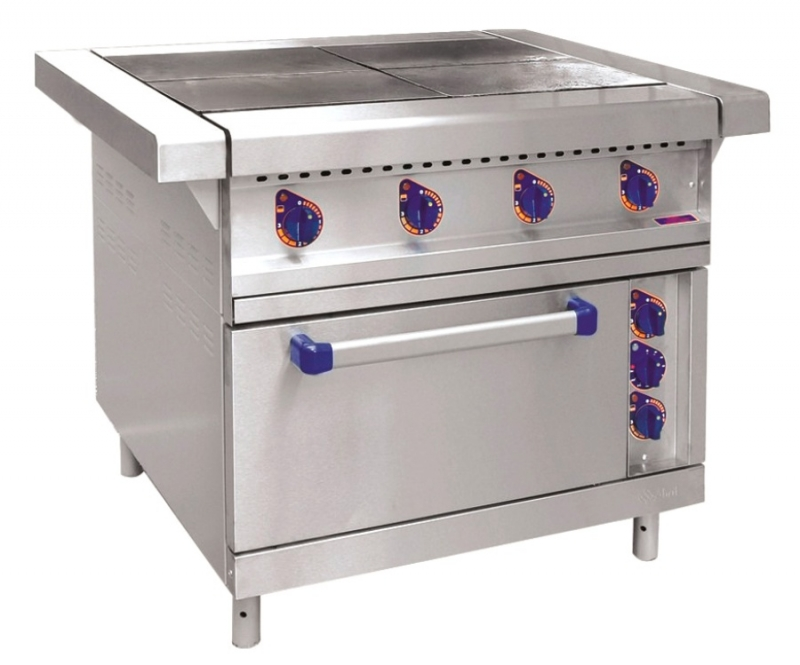 Электрическая плита Аbat ЭП-4ЖШ-01 для кафе, столовых, ресторанов