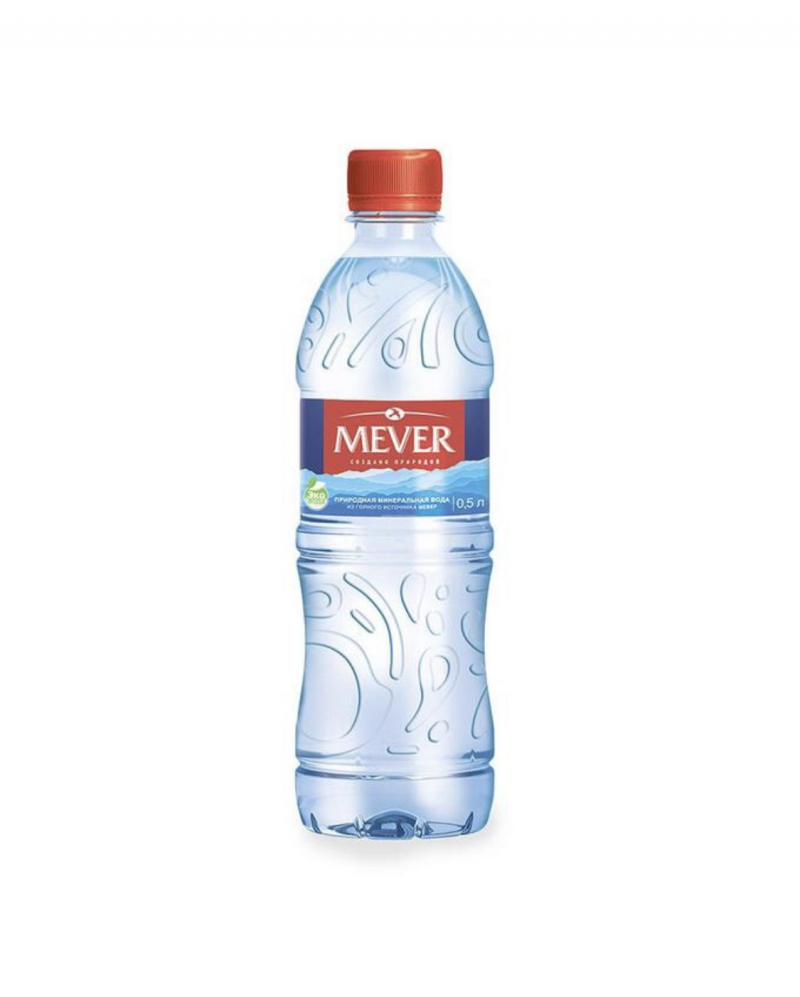 Вода питьевая минеральная негазированная Mever 0,5 в упаковках по 12 шт от 10 уп