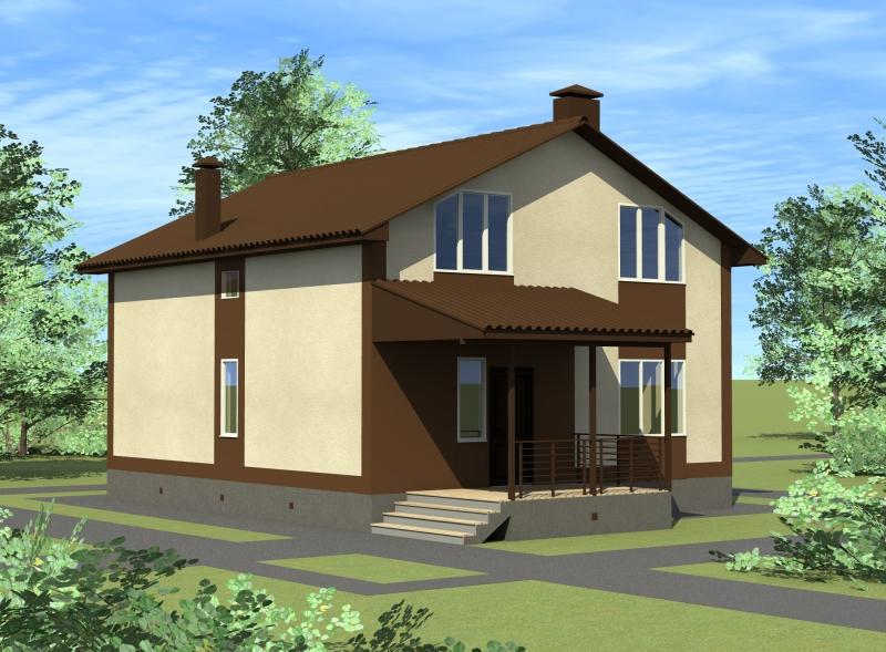 дом в коттеджном посёлке