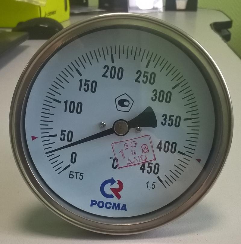 Термометры БТ-5 коррозионностойкие (осевое присоединение)