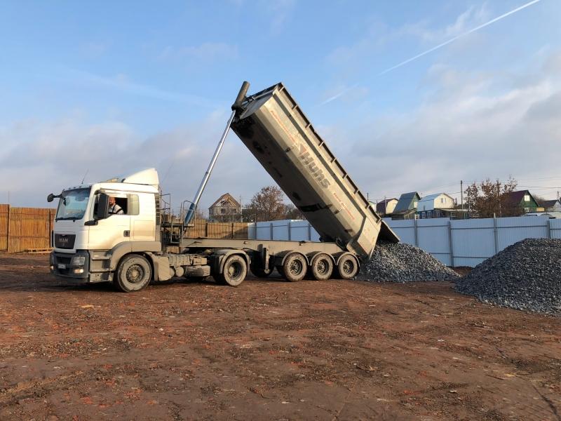 Осуществляем перевозку нерудных, инертных материалов и прочих насыпных грузов