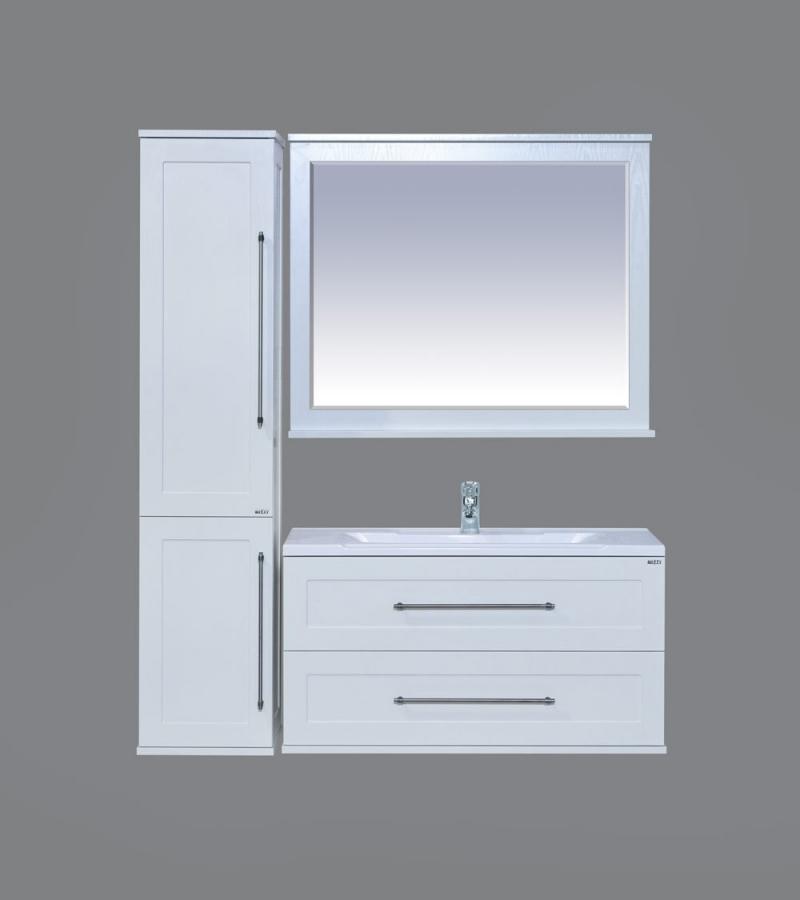 Мебель для ванной Марта 100 подвесная, белая