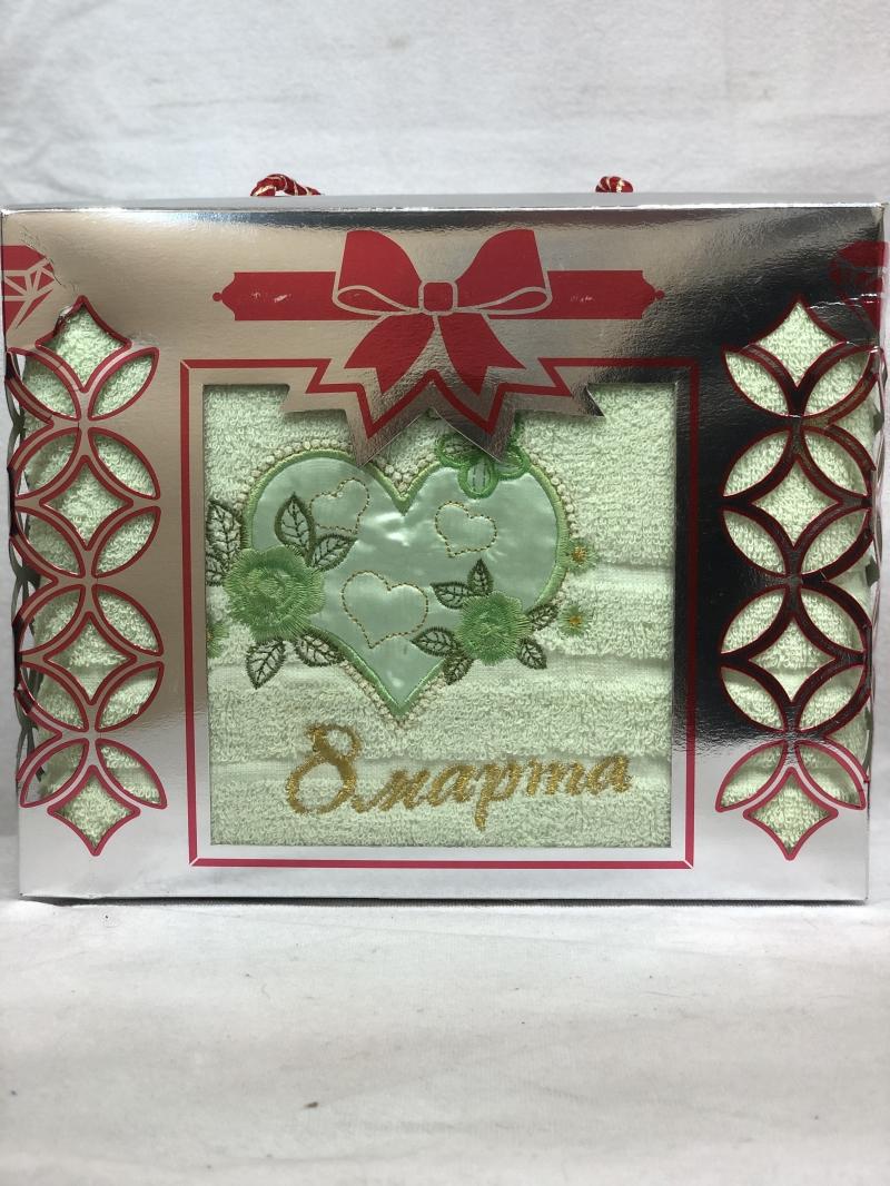 ПОЛОТЕНЦЕ 8 МАРТА в подарочной коробке
