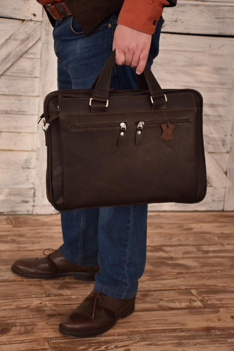 Мужская сумка из натуральной кожи СМ 447
