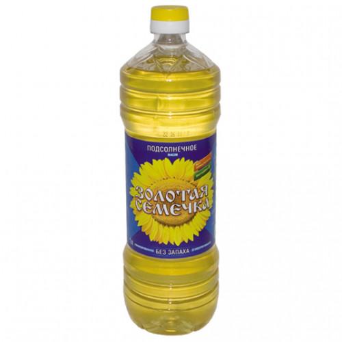 Масло Золотая семечка подсолнечное рафинированное дез. вымороженное 1 сорт 1л Юг