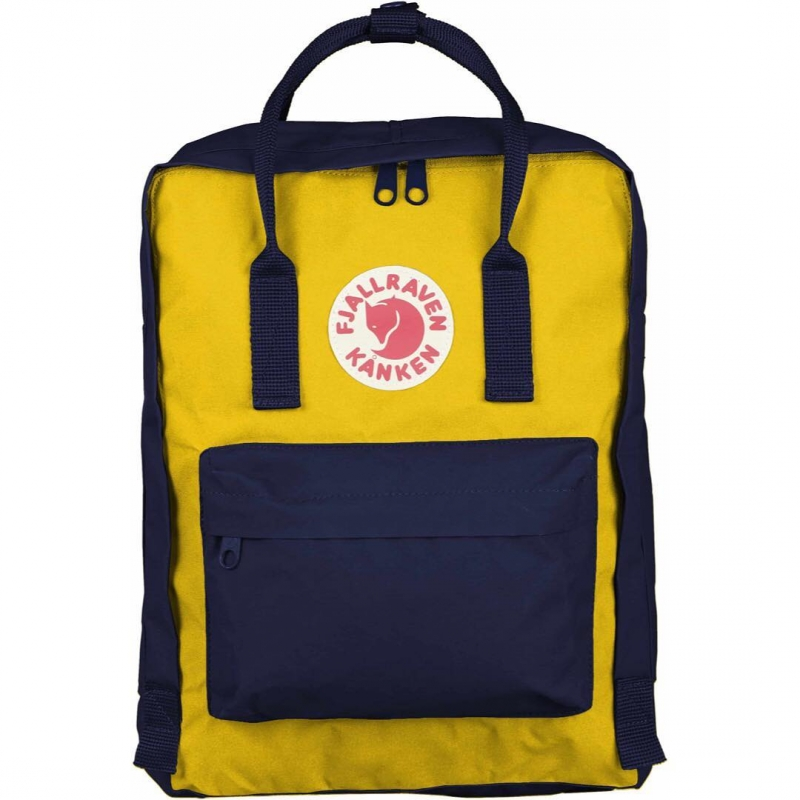 Рюкзак Fjallraven Kanken Classic Navy Warm Yellow