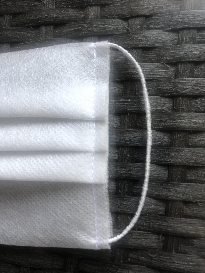 Маски защитные для лица 3-х слойные.  Многоразовые