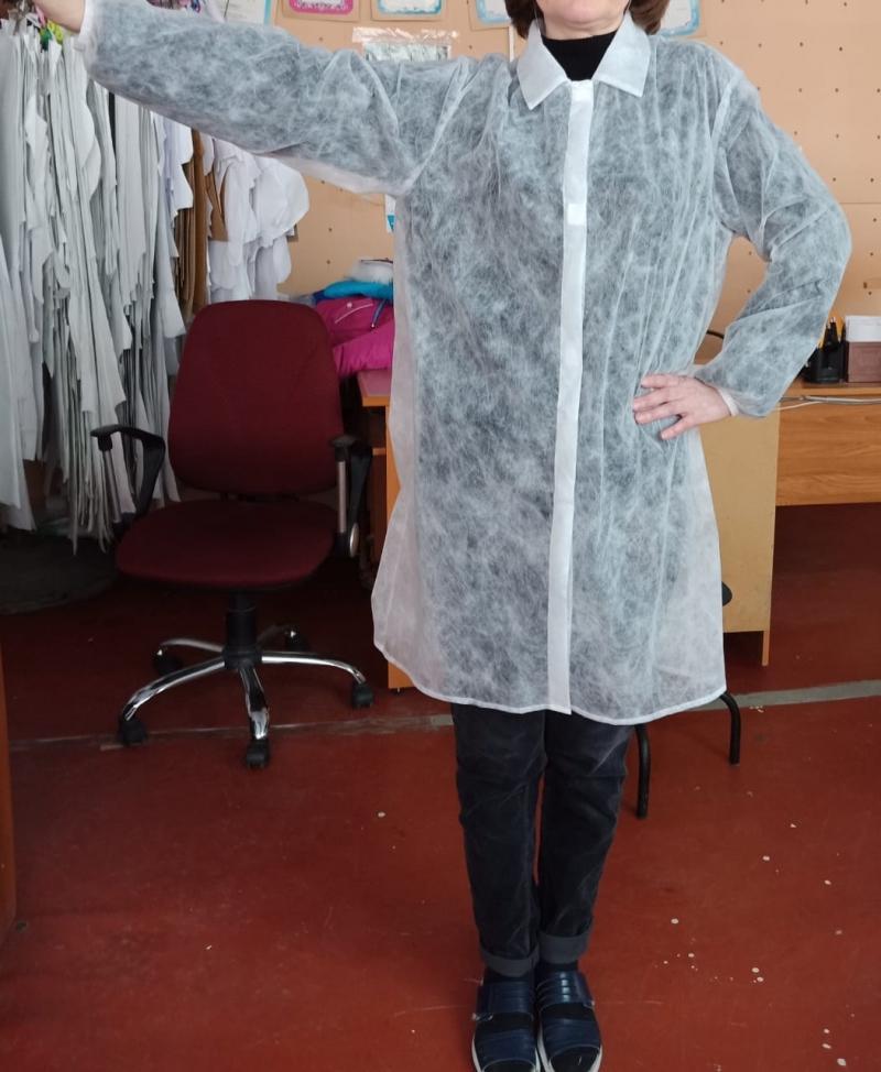 Одноразовые халаты Визитер